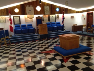 Buffalo Park Lodge No. 44 A.F. & A.M. Picture of the Inside of the Lodge Room Facing The East.