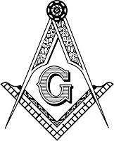 Square and Compasses Masonic crest